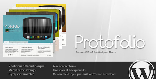 Protofolio Business & Portfolio Wordpress - 5 in 1 - Business Corporate