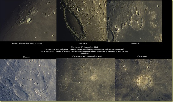 27 September 2012 Moon pictures
