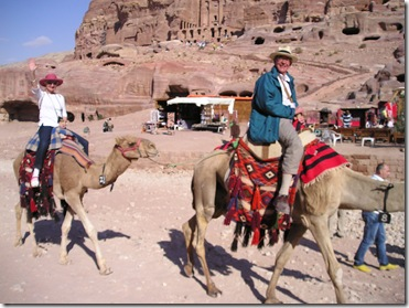 213a Boak and Di on Camels at Petra