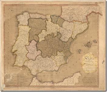 Mapa Portugal Espanha B