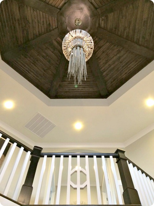 wood ceiling treatment