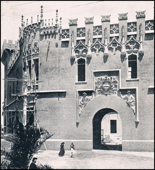 Palacio Municipal en construcción. 1909
