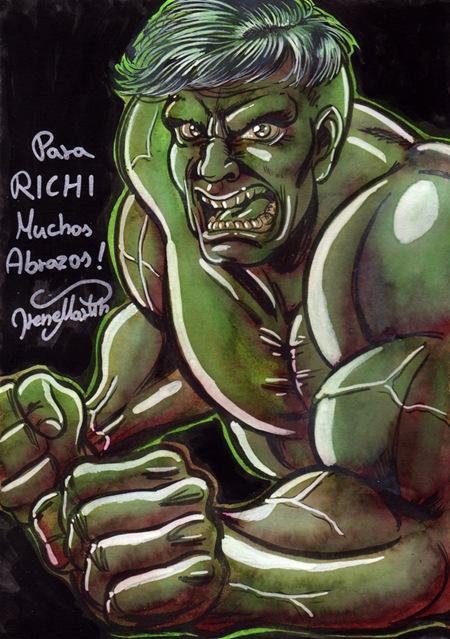 Un Hulk para Richi por Ireness Art (Irene Martin Hernandez)