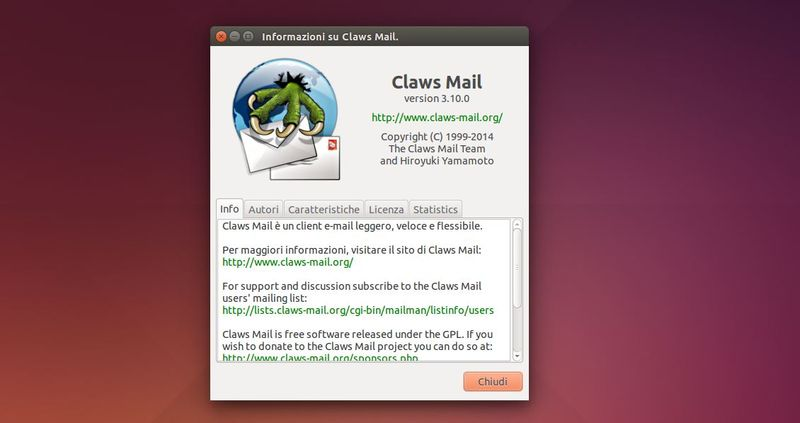Claws Mail 3.10 - info