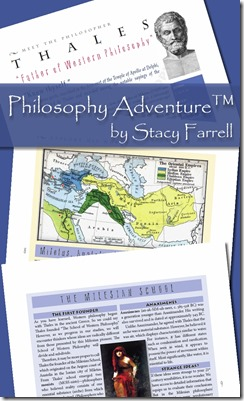 Giveaway of Philosophy Adventure by Stacy Farrell, a brand new curriculum for middle school to high school...see samples here and enter to win it!  (ends 6/9)