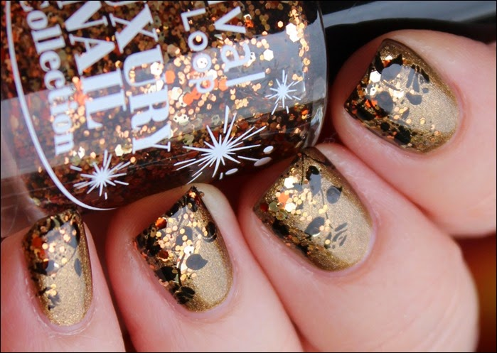Autumn Nail Art Herbst Nageldesign Ranke Blätter Laub 01