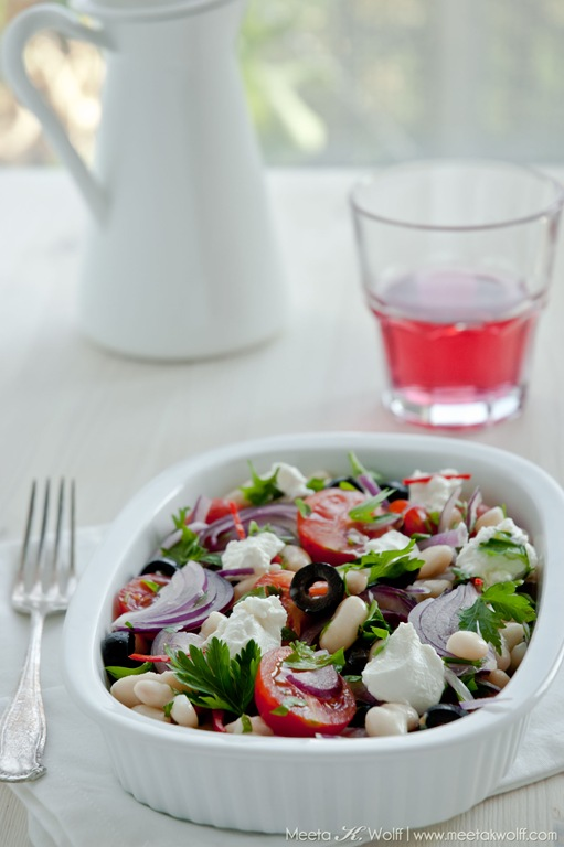 Cannellini Bean Salad with Olives and Ricotta (0094) by Meeta K. Wolff