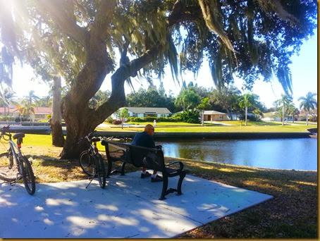 park rest stop on bikes