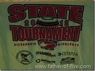 State Tournament logo on the tee shirt!