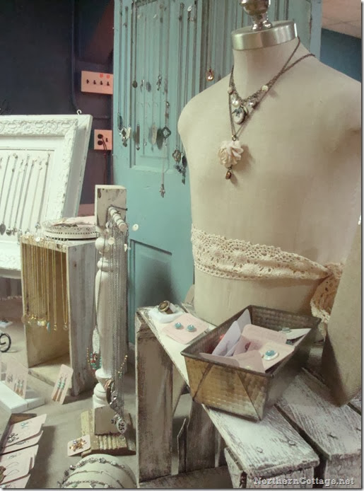 {Northern Cottage} dress form jewelry display