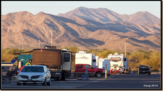 Looking west from RV park