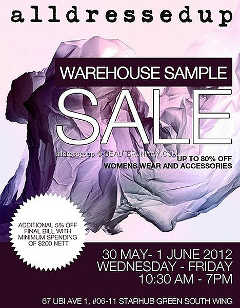 alldressedup SAMPLE SALE SPRING SUMMER 2012 FASHION SINGAPORE SALE WOMEN'S FASHION ACCESSORIES dresses coat clutch BAGS necklace