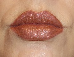 wearing L'Oreal Infallible ProLast Lipcolor in Always Almond