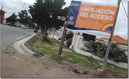 Se realizan trabajos de ampliación de acceso a Las Toninas, en el marco del Presupuesto Participativo