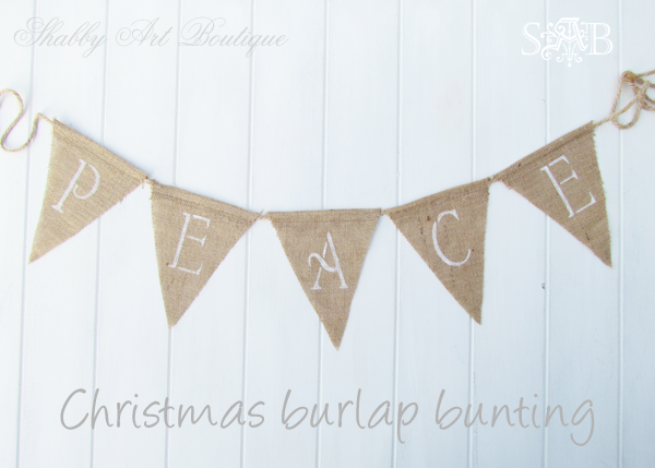 Shabby Art Boutique burlap bunting 2