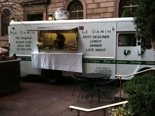 Le Gamin truck serving French snacks and food.