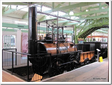 Locomotion. The first loco to run on a public railway. Ran from 1825 until 1841. In 1850 it became a static boiler at a factory.