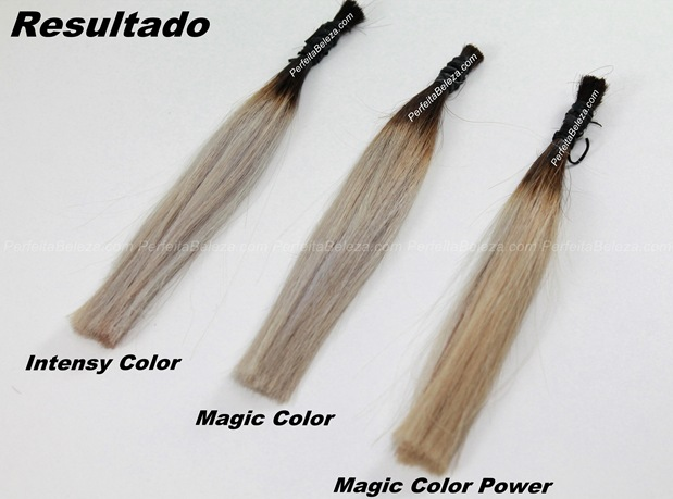comparação dos matizadores, intensy color, magic color e magic color power