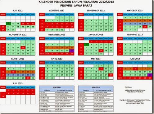 kalender pendidikan provinsi Jawa Barat 2012-2013