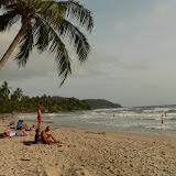 Buller à la plage, et en maillot de bain, cest la première fois du voyage !