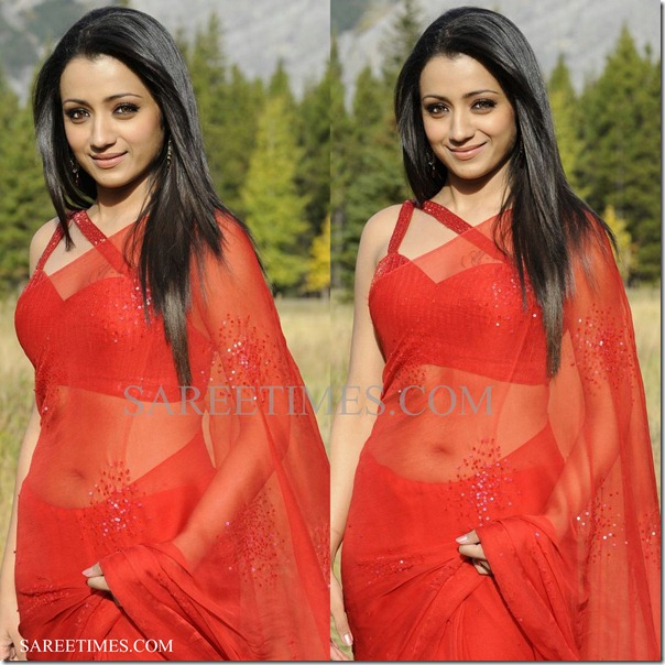 Trisha_Red_Saree