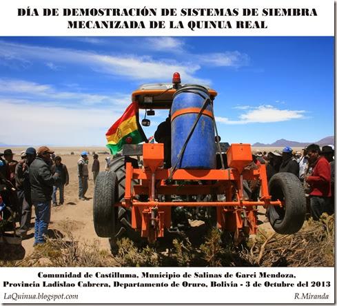 Día de Demostración de sistemas de siembra mecanizada de la Quinua Real-Castilluma, Oruro-Rubén Miranda_LaQuinua.blogspot.com