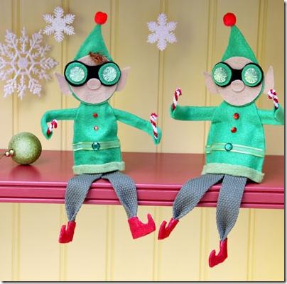 Navidad para ni os manualidad elfos jugarycolorear - Manualidad ninos navidad ...