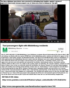 MIDDELBURG AFRIKANERS ARRESTED FOR DEFENDING FAMILIES FROM AGGRESSIVE BLACK TAXI PASSENGERS