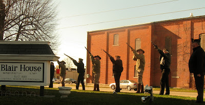 The 21-gun salute at Blair House in Washington, Iowa
