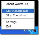 VolumeOut Start Countdown