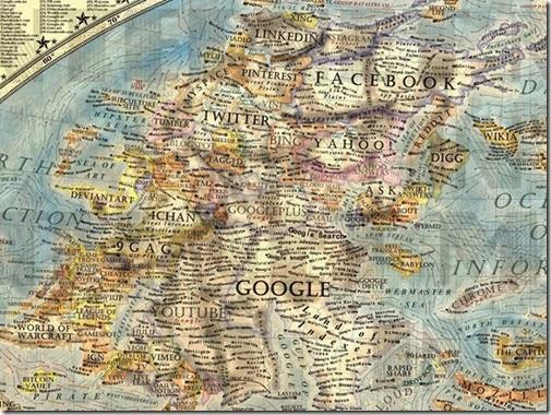 Mapa Mundi del internet 2