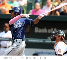 'B.J. Upton' photo (c) 2011, Keith Allison - license: http://creativecommons.org/licenses/by-sa/2.0/