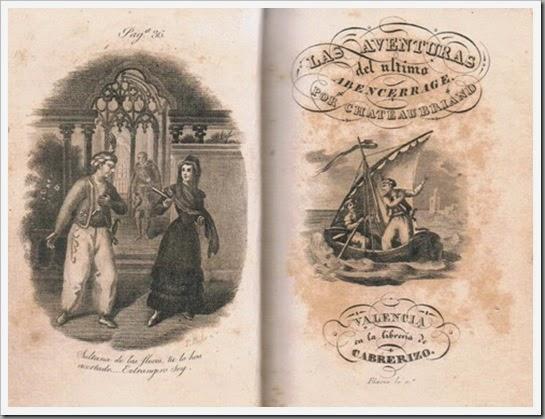 Portada novela editada por Cabrerizo. Ca. 1839