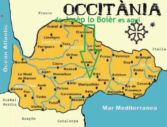 Mapa Occitània Libertat José Bové