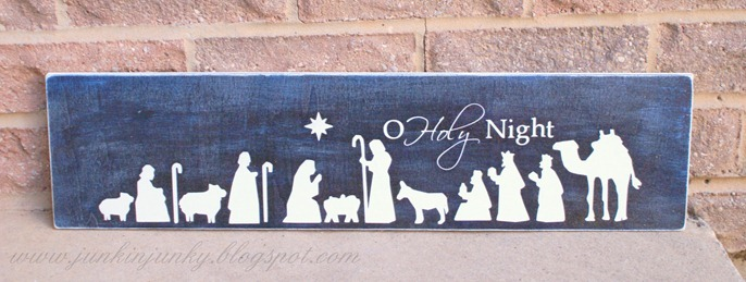 Nativity sign at www.junkinjunky.blogspot.com