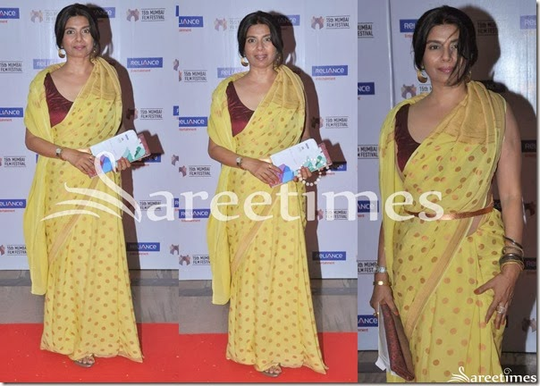 Yellow_Polka_Dots_Saree