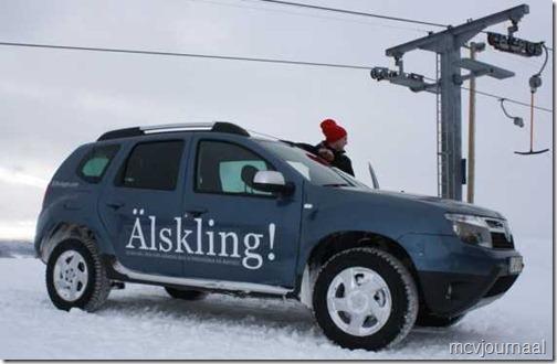 Dacia Duster in de winter 01