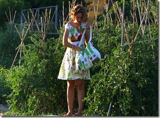 Vestito borsa orto e girasoli-005