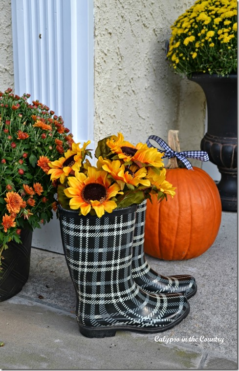 plaid-rain-boots