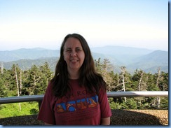 0330 Tennessee-North Carolina border - Smoky Mountain National Park - Clingmans Dome Rd - Observation Tower on top Clingmans Dome - Karen