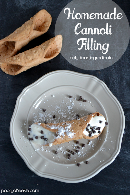 Homemade Cannoli Filling - only four ingredients
