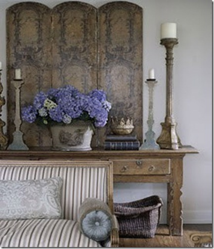 blue gilt and hydrangeas via pinterest
