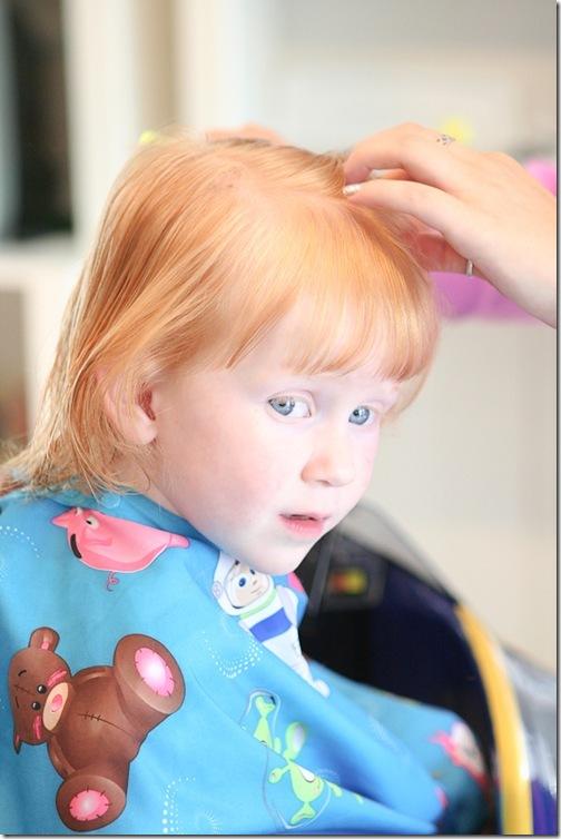 Sara's first haircut-15 blog