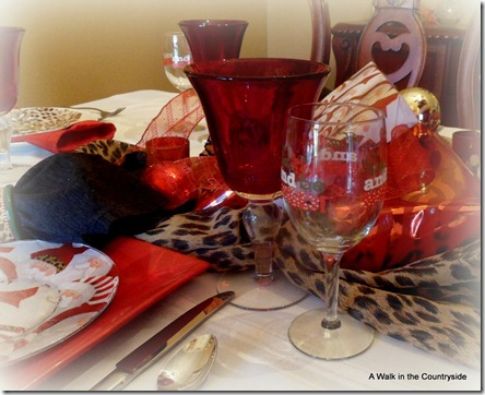 A Walk in the countryside: Christmas tablescape with leopard
