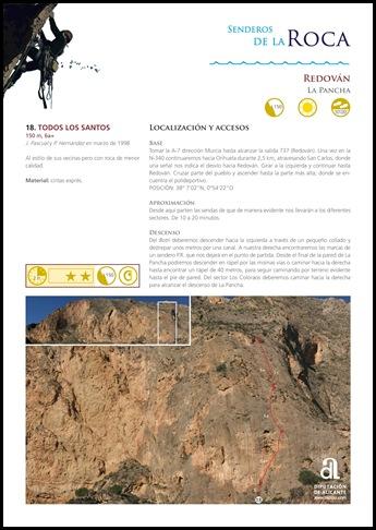 Croquis Redovan - La Pancha - Todos los Santos 150m 6a  (Senderosdealicante.com)