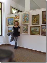 Corina Chirila la salonul de toamna din herastrau organizat de Asociatia Artistilor plastici din Bucuresti
