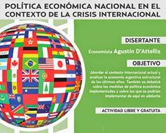 El economista Agustín D´Attellis brindará una clase abierta en la Universidad Atlántida Argentina