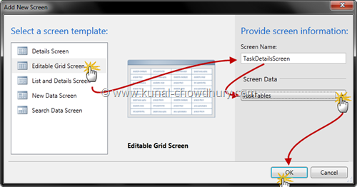 7. Create New Details Screen
