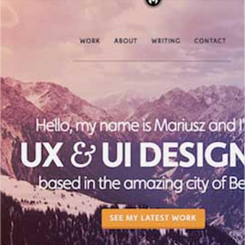 10 excelentes ejemplos de portafolios web de diseñadores