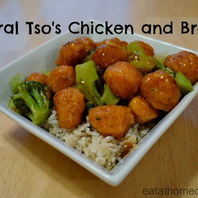 General Tso's Chicken and Broccoli